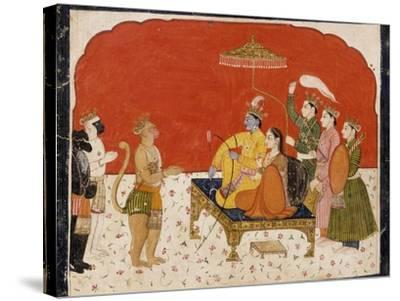 Rama's Court--Stretched Canvas Print