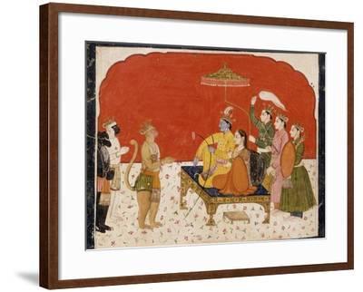 Rama's Court--Framed Art Print