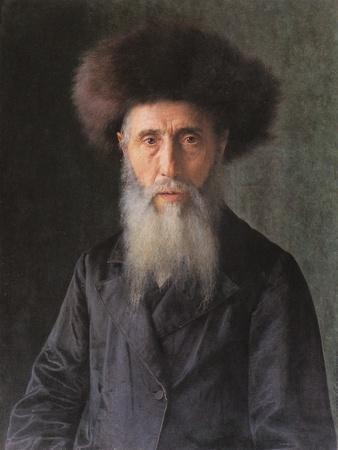 Portrait of a Rabbi-Isidor Kaufmann-Framed Art Print
