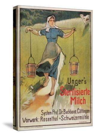 Unger's Sterilized Milk-Hermann Behrens-Stretched Canvas Print