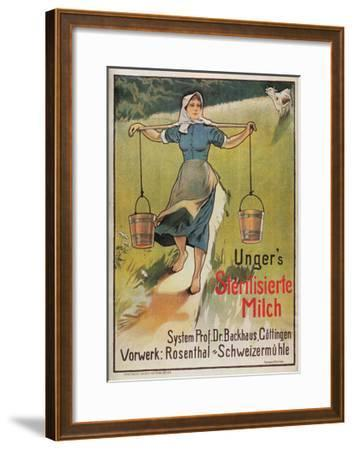 Unger's Sterilized Milk-Hermann Behrens-Framed Art Print
