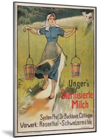 Unger's Sterilized Milk-Hermann Behrens-Mounted Art Print