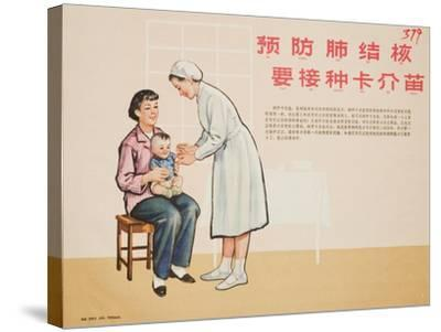 Nurse Administers a TB Vaccine--Stretched Canvas Print