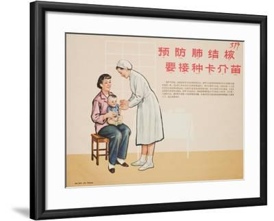 Nurse Administers a TB Vaccine--Framed Art Print