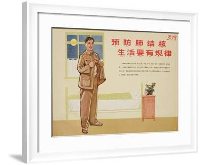 Bedtime Provides Rest Against TB--Framed Art Print