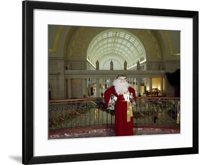 Santa Claus at the Library-Carol Highsmith-Framed Art Print
