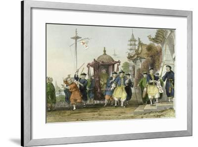 Mandarin Paying Visit-Thomas Allom-Framed Art Print