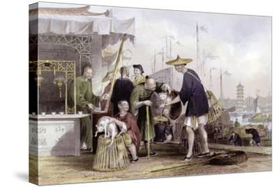 Cat Tea Merchants-Thomas Allom-Stretched Canvas Print