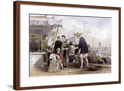 Cat Tea Merchants-Thomas Allom-Framed Art Print