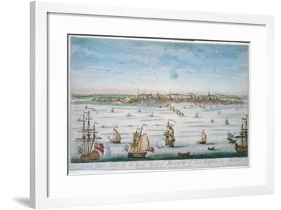 Boston in 1750-John J. Carwitham-Framed Art Print