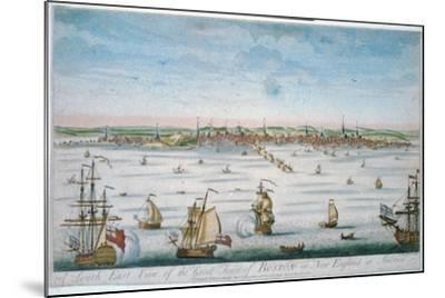 Boston in 1750-John J. Carwitham-Mounted Art Print