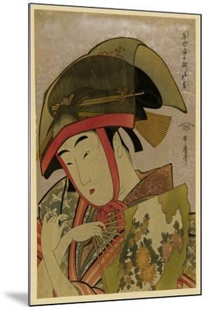 Suzume of Yoshiwara-Kitagawa Utamaro-Mounted Art Print