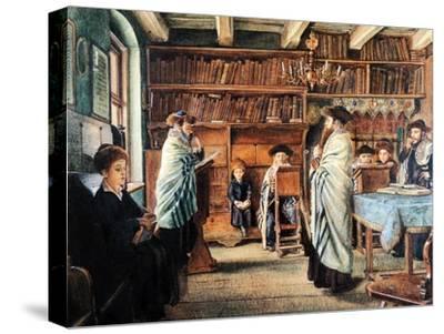 In the Beth Hamidrash-Isidor Kaufmann-Stretched Canvas Print