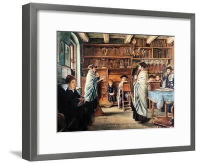 In the Beth Hamidrash-Isidor Kaufmann-Framed Art Print