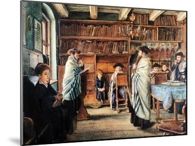In the Beth Hamidrash-Isidor Kaufmann-Mounted Art Print
