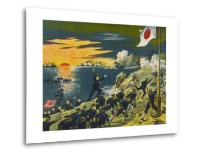 Japanese Land at Liaodong Peninsula, Russians Flee--Metal Print