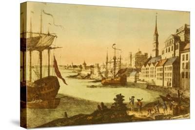 The Port of Boston--Stretched Canvas Print