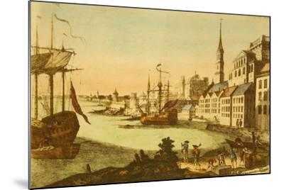 The Port of Boston--Mounted Art Print
