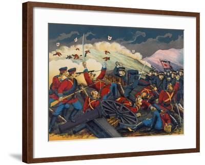 Japanese Soldier Overrun Russians at Fen-Shui Ling--Framed Art Print