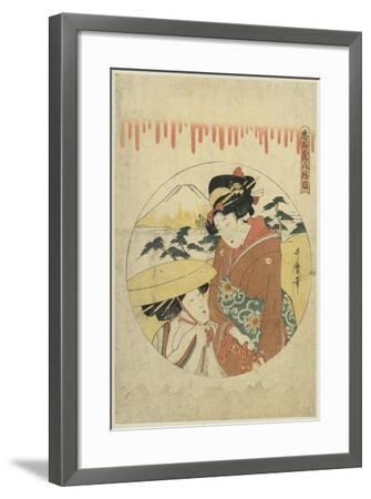 A Lady's Discussion-Kitagawa Utamaro-Framed Art Print