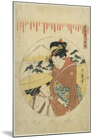 A Lady's Discussion-Kitagawa Utamaro-Mounted Art Print