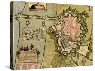 Survey of London, Westminster, and Southwark - 1700-Anna Beeck-Stretched Canvas Print
