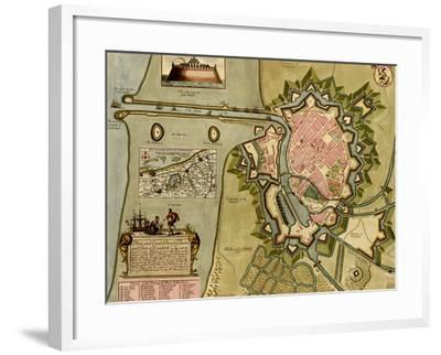 Survey of London, Westminster, and Southwark - 1700-Anna Beeck-Framed Art Print