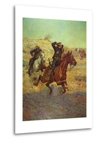 Going for Reinforcements-Charles Shreyvogel-Metal Print