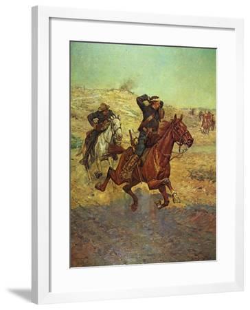 Going for Reinforcements-Charles Shreyvogel-Framed Art Print