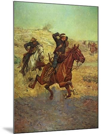 Going for Reinforcements-Charles Shreyvogel-Mounted Art Print