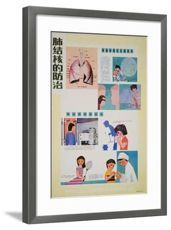 Preventing Tuberculosis Is Part of Having Good Habits--Framed Art Print