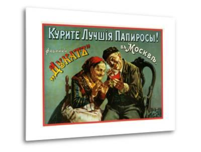 Old and Experienced Smoke the Best - Dukatz Cigarettes of Moscow--Metal Print