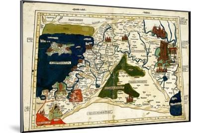 Israel, Palestine-Ptolemy-Mounted Art Print