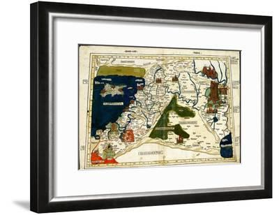 Israel, Palestine-Ptolemy-Framed Art Print