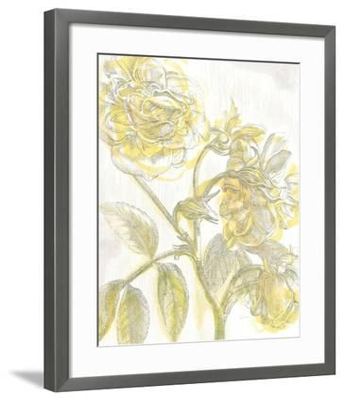 Belle Fleur Yellow I Crop-Sue Schlabach-Framed Premium Giclee Print