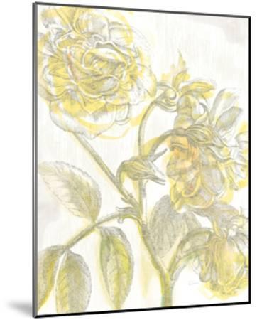 Belle Fleur Yellow I Crop-Sue Schlabach-Mounted Premium Giclee Print