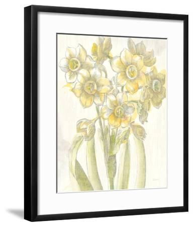 Belle Fleur Yellow IV Crop-Sue Schlabach-Framed Premium Giclee Print