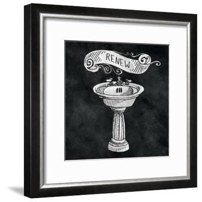 Chalkboard Bath Renew-Mary Urban-Framed Art Print