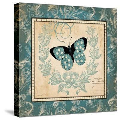 Vintage Butterfly-Jo Moulton-Stretched Canvas Print