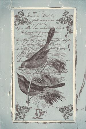 French Birds-Jo Moulton-Framed Art Print
