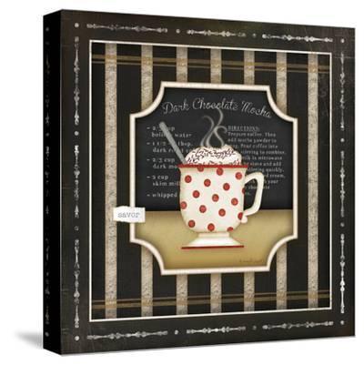 Kitchen Cuisine Coffee III-Jennifer Pugh-Stretched Canvas Print