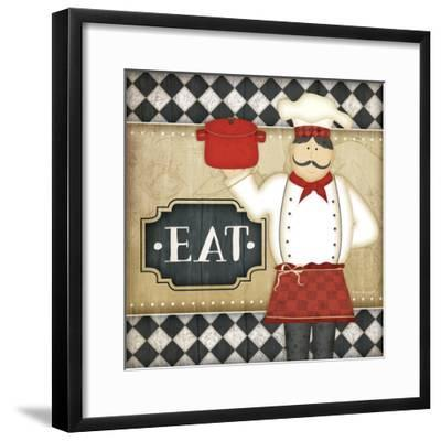 Bistro Chef Eat-Jennifer Pugh-Framed Art Print