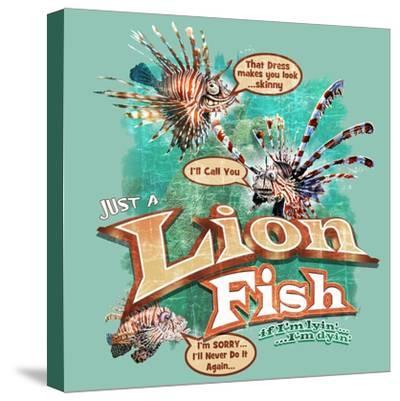 Lion Fish-Jim Baldwin-Stretched Canvas Print