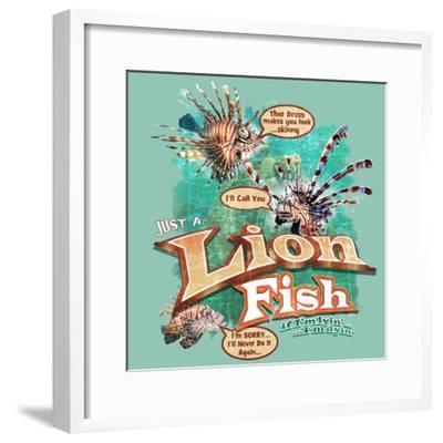 Lion Fish-Jim Baldwin-Framed Art Print