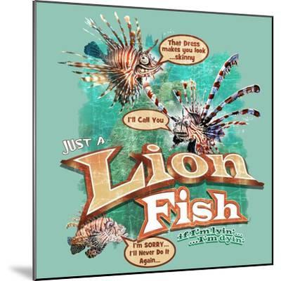 Lion Fish-Jim Baldwin-Mounted Art Print