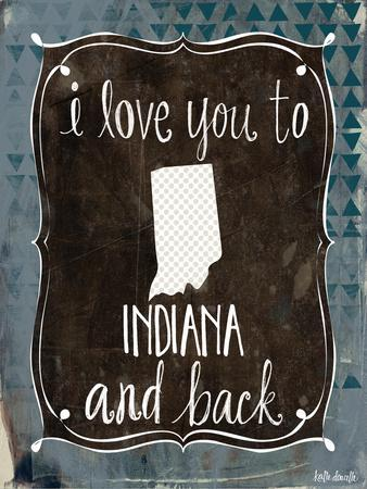 Indiana and Back-Katie Doucette-Framed Art Print