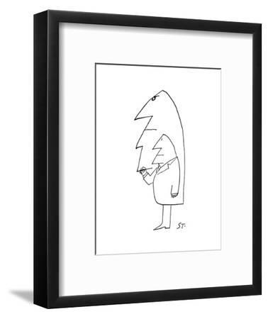 Cartoon-Saul Steinberg-Framed Premium Giclee Print