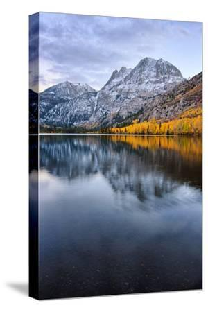 Silver Lake in Reflection in Autumn, Eastern Sierras, California-Vincent James-Stretched Canvas Print