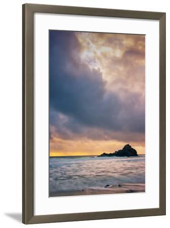 Stormy Sunset Skies at Big Sur, Pfieffer Beach, California Coast-Vincent James-Framed Photographic Print