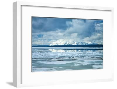 Icy Summer Landscape at Yellowstone Lake, Wyoming-Vincent James-Framed Photographic Print
